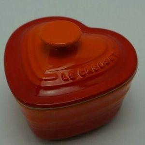 Le Creuset Orange Burst Heart Shaped Ramekin
